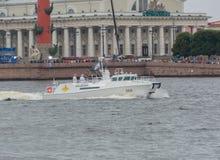 Rusland, heilige-Petersburg, 30 Juli, 2017 - admiraals aan boord van verkleumd Royalty-vrije Stock Afbeelding