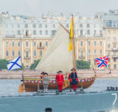 Rusland, heilige-Petersburg, 30 Juli, 2017 - dag van de Marine van Stock Foto