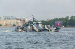 Rusland, heilige-Petersburg, 30 Juli, 2017 - dagparade van de Marine Stock Foto