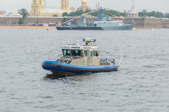 Rusland, heilige-Petersburg, 30 Juli, 2017 - de dag van de Marine van Stock Foto