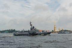 Rusland, heilige-Petersburg, 30 Juli, 2017 in de wateren van Nev Stock Foto
