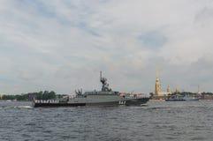 Rusland, heilige-Petersburg, 30 Juli, 2017 in de wateren van Nev Stock Foto's