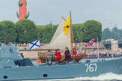 Rusland, heilige-Petersburg, 30 Juli, 2017 - feest van de Marine, Royalty-vrije Stock Afbeelding