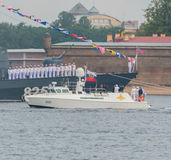 Rusland, heilige-Petersburg, 30 Juli, 2017 - President Vladimir Put Stock Afbeelding
