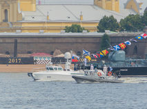 Rusland, heilige-Petersburg, 30 Juli, 2017 - Voorzitter van Russi Stock Foto