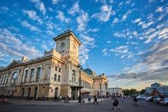 RUSLAND, HEILIGE-PETERSBURG - JUNI 17, 2017 Vitebskystation Royalty-vrije Stock Foto