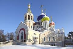 Rusland Het gebied van Moskou Peredelkino Tempel van de Heilige Grote Prins Igor van Chernigov royalty-vrije stock afbeeldingen