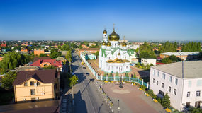 Rusland Het gebied van Rostov Bataysk Andrew Square en Heilige Drievuldigheid C Stock Afbeeldingen