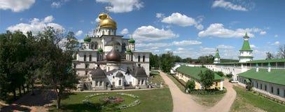 Rusland. Het nieuwe klooster van Jeruzalem. Panorama Stock Fotografie