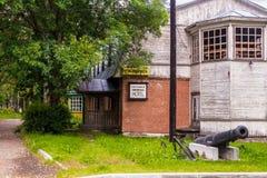 Rusland, Karelië, Lahdenpohja, Augustus 2016: Hotel Annika, recreatie en toerisme Royalty-vrije Stock Fotografie