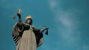 Rusland, Krasnodar 29 september 2018: Monument aan de Heilige Grote Martelaar Catherine stock footage