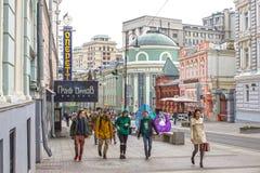 Rusland, Moskou, Bolshaya Dmitrovka, 25 April, 2016 Royalty-vrije Stock Foto's