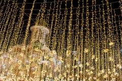 Rusland, Moskou: Feestelijke decoratie voor het nieuwe jaar en Christma Royalty-vrije Stock Foto's