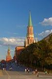 Rusland Moskou het Kremlin De passage van het Kremlin Het rode gebied stock fotografie