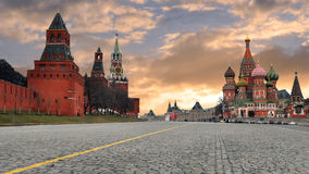 Rusland moskou Het rode gebied Stock Afbeeldingen