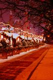 Rusland, Moskou-20, Januari, 2018, Kerstmis in Moskou, Rusland r Stock Foto