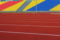 RUSLAND, MOSKOU 29 JULI, 2016: Het oude voetbalstadion werd geopend na wederopbouw toe te schrijven aan de burgemeesterprogramma  stock fotografie