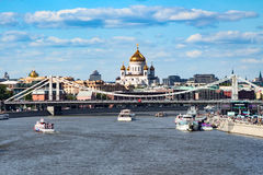 06/12/2015 Rusland Moskou Mening van de dijk van Moskou Stock Fotografie