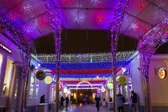 Rusland, Moskou, Metro Kropotkinskaya, 7 Januari, 2016 - fest Royalty-vrije Stock Afbeelding