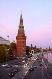 Rusland, Moskou, nachtmening Stock Fotografie