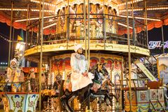 Rusland, Moskou, Nieuwjaar` s Markt, Kerstmismarkt op Rood Vierkant Royalty-vrije Stock Foto's