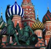 Rusland, Moskou, St Basil& x27; s Kathedraal stock afbeelding