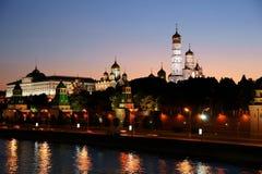 Rusland, nacht, het Kremlin royalty-vrije stock fotografie