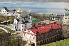 RUSLAND, NIZHNY NOVGOROD: Kerk van Onze Dame van Kaz Royalty-vrije Stock Afbeeldingen