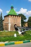 RUSLAND, NIZHNY NOVGOROD: Nicholas Tower van Nizhny Novgorod het Kremlin Stock Afbeeldingen