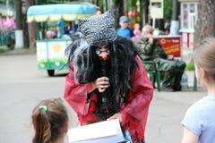 Rusland 27 noginsk-Juni vakantie voor kinderen in het stadspark Stock Foto