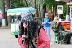 Rusland 27 noginsk-Juni vakantie voor kinderen in het stadspark Stock Fotografie