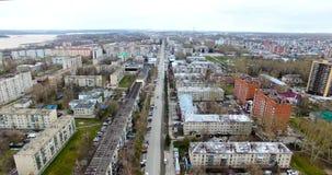 Rusland, Novosibirsk Aero het ontspruiten van een de winterstad stock footage