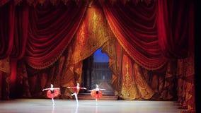 Rusland, Novosibirsk, 30 kan 2015 Dansers het mooie uitvoeren van opera en ballettheater in langzame motie 1920x1080 stock footage