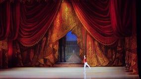 Rusland, Novosibirsk, 30 kan 2015 Dansersprestaties van opera en ballettheater in langzame motie 1920x1080 stock videobeelden