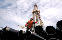 Rusland. Olieproductie in West-Siberië Stock Afbeelding