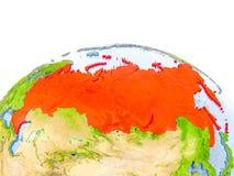 Rusland op model van Aarde Stock Afbeeldingen
