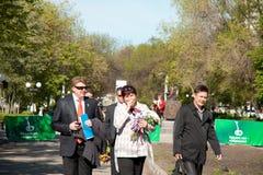 RUSLAND, PENZA - MEI 1: De demonstratie van de meidag Royalty-vrije Stock Foto's