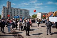 RUSLAND, PENZA - MEI 1: De demonstratie van de meidag Stock Fotografie