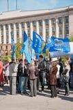 RUSLAND, PENZA - MEI 1: De demonstratie van de meidag Stock Foto