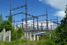 RUSLAND, PERMANENT - 12 JUNI, 2015: Elektrohulpkantoor royalty-vrije stock afbeelding