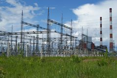 RUSLAND, PERMANENT - 12 JUNI, 2015: Elektrohulpkantoor royalty-vrije stock foto's