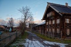 Rusland Petrozavodsk Het Etnografische die Museum van Sheltozeroveps na R wordt genoemd P Lonin 15 november, 2017 Royalty-vrije Stock Foto