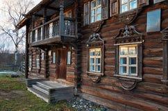 Rusland Petrozavodsk Het Etnografische die Museum van Sheltozeroveps na R wordt genoemd P Lonin 15 november, 2017 Royalty-vrije Stock Afbeelding