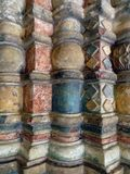 Rusland Rostov het Kremlin Mening van Binnenhuisarchitectuur van een kerkgalerij Stock Afbeelding