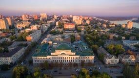 Rusland Rostov-op-trek aan De Raad vierkant Het bureau van de centra Royalty-vrije Stock Foto's