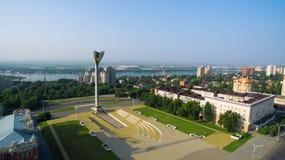 Rusland Rostov-op-trek aan Herdenkings complex ter ere van liberati Stock Foto's