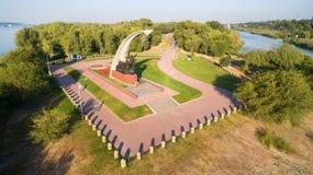 Rusland Rostov-op-trek aan Kumzhenskayabosje Oorlogs Herdenkingswereld Wa Stock Foto