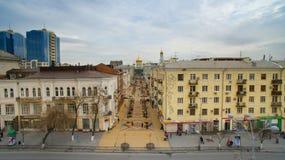 Rusland Rostov-op-trek aan Steegkathedraal Stock Foto