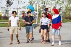 RUSLAND, rostov-op-TREKT - 23 Juni, aan stock foto