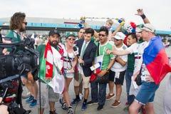 RUSLAND, rostov-op-TREKT - 23 Juni, aan stock afbeeldingen